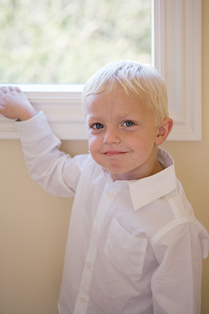 Image of Ring Bearer Before Ceremony